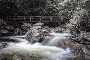 Chimney Tops Bridge2 BW by Bob Rouse