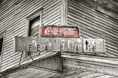 General Store Sign BW