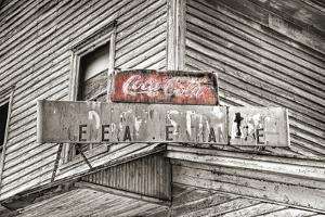 General Store Sign BW by Bob Rouse
