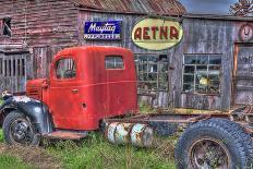 Red Barn-Bob Rouse-Framed Premier Image Canvas
