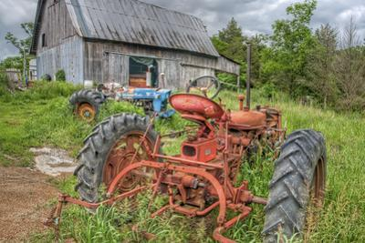 Tractors in Weeds by Bob Rouse