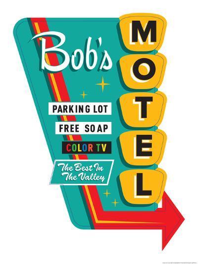Bob's Motel-JJ Brando-Art Print