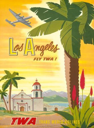 Fly TWA Los Angeles 1950s