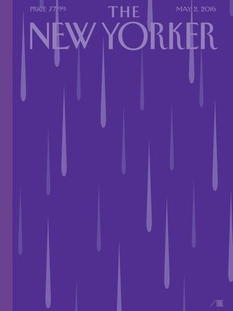 Prince Purple Rain New Yorker Magazine Cover - May 2, 2016