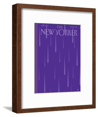 Prince Purple Rain New Yorker Magazine Cover - May 2, 2016 by Bob Staake