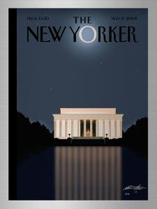The New Yorker Cover - November 17, 2008 by Bob Staake
