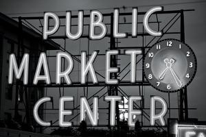 BW Public Market Sign II by Bob Stefko