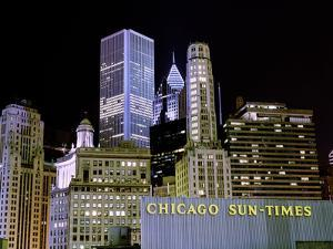Chicago at Night I by Bob Stefko