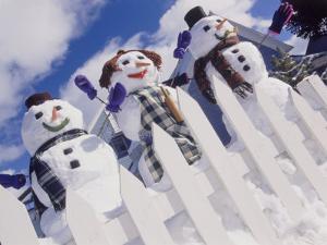 Family of Snow People, Breckenridge, CO by Bob Winsett