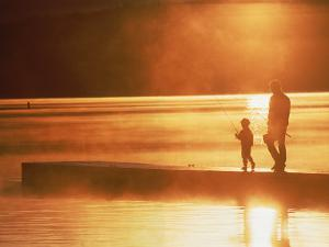 Father and Son Fishing by Bob Winsett