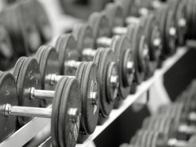 Free Weights in Rack