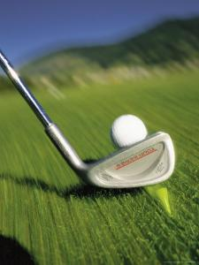 Golf Club and Ball on Fairway by Bob Winsett