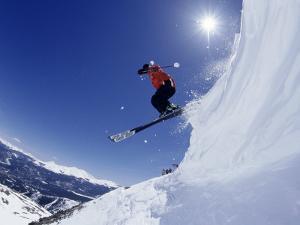 Man Skiing, Breckenridge, CO by Bob Winsett