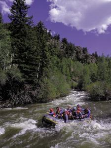 People Rafting in Blue River North of Silverthorne, CO by Bob Winsett