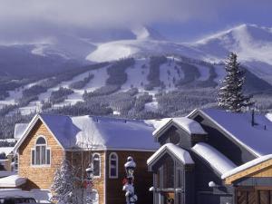 Town with Ski Area in Background, Breckenridge, CO by Bob Winsett
