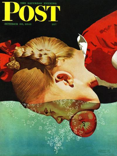 """""""Bobbing for Apples,"""" Saturday Evening Post Cover, October 30, 1943-John Hyde Phillips-Giclee Print"""