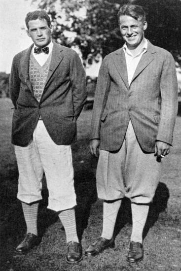 Bobby Jones and fellow golfer, c1920s-Unknown-Giclee Print