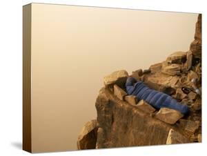 A Climber Rests Easily after a Hard Day of Climbing by Bobby Model