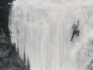 A Climber Scales the Ghost on Upper Deer Creek by Bobby Model