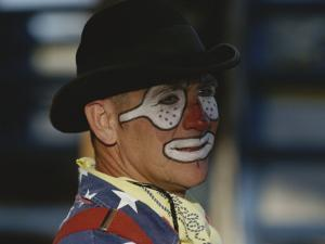 A Professional Rodeo Clown Waits for the Showto Begin by Bobby Model
