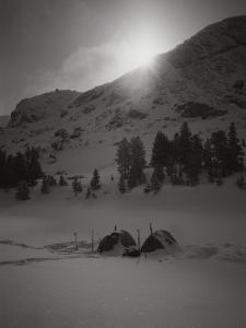 A Shot of Base Camp at Sunrise by Bobby Model