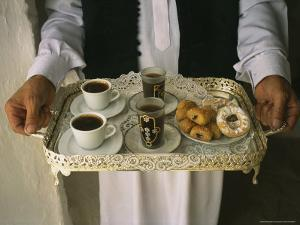 Berber Hospitality in the Form of Tea, Coffee and Cakes on a Tray by Bobby Model