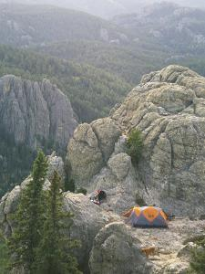 Camping on Harney Peak in the Black Hills by Bobby Model