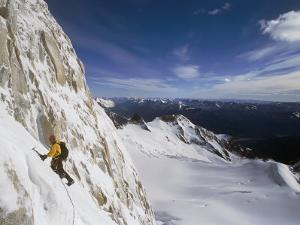 Climber on the Franco-Argentine Route up Cerro Fitzroy by Bobby Model