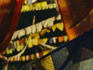 Colorful Hanging Buddhist Prayer Flags by Bobby Model