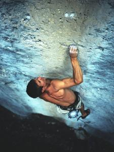 Man Rock Climbing in the Big Horn Mountains of Wyoming by Bobby Model