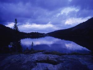 Mead Lake During Evening Light in the Bighorn Mountains, Wyoming by Bobby Model
