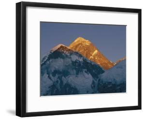 Mount Everest is Seen in the Evening Light by Bobby Model