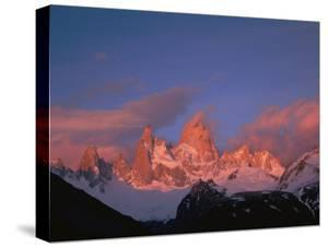 View of Cerro Fitzroy (Center) at Twilight by Bobby Model