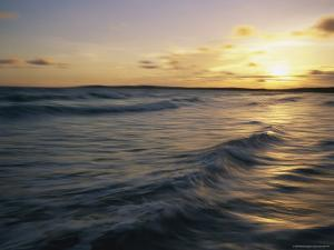 Waves at Sunset on Shella Beach by Bobby Model