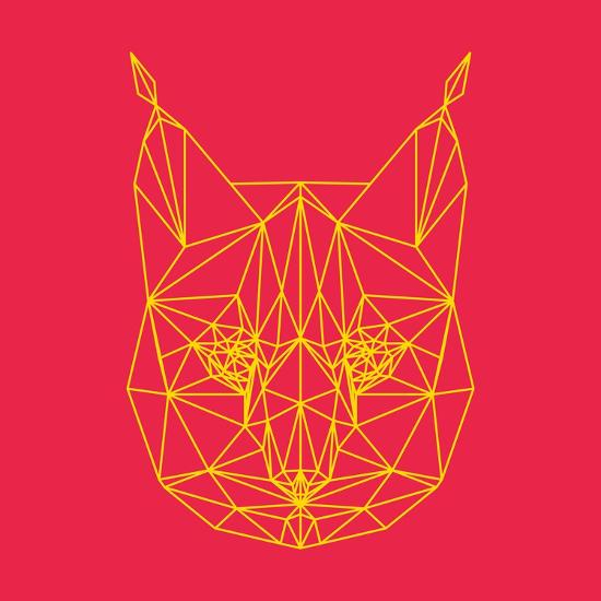 Bobcat Polygon 2-Lisa Kroll-Art Print