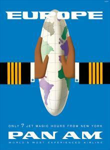 Europe - Only 7 Jet Magic Hours from New York - Pan American World Airways by Bobri