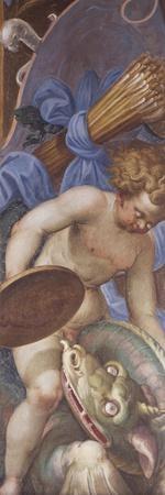 Cherub and Dragon, Detail of Redeemer in Glory