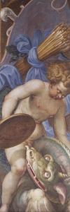 Cherub and Dragon, Detail of Redeemer in Glory by Boccaccio Boccaccino