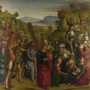 Christ Carrying the Cross and the Virgin Mary Swooning, C. 1501 by Boccaccio Boccaccino