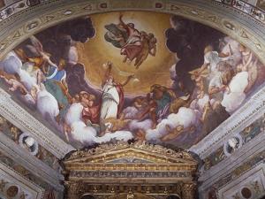 Christ in Glory, Fresco by Boccaccio Boccaccino