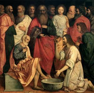 Christ Washing the Disciples' Feet by Boccaccio Boccaccino