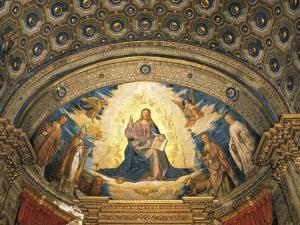 Redeemer in Glory, Fresco by Boccaccio Boccaccino