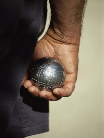 Bocce Bowler Holding a Ball-Nicole Duplaix-Photographic Print