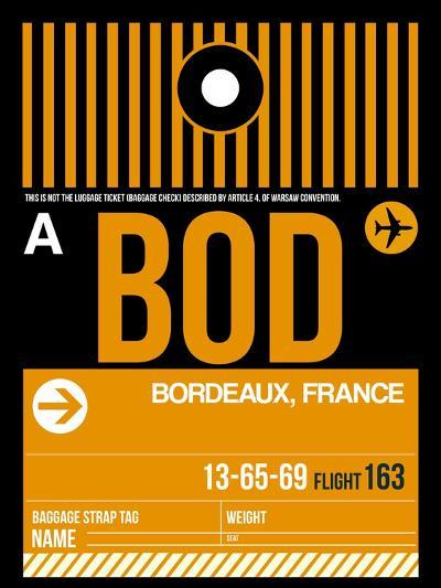 BOD Bordeaux Luggage Tag II-NaxArt-Art Print