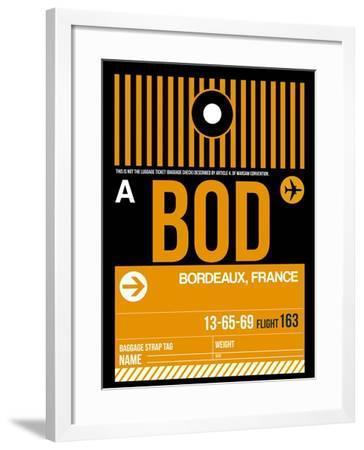 BOD Bordeaux Luggage Tag II-NaxArt-Framed Art Print