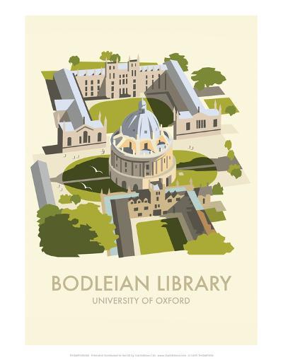 Bodelein Library Exterior - Dave Thompson Contemporary Travel Print-Dave Thompson-Art Print