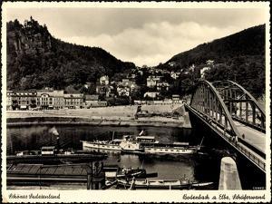 Bodenbach Sudetengau, Dampfer Sachsen, Schäferwand