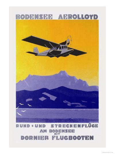 Bodensee Aerolloyd Flying Boat Tours-Marcel Dornier-Art Print