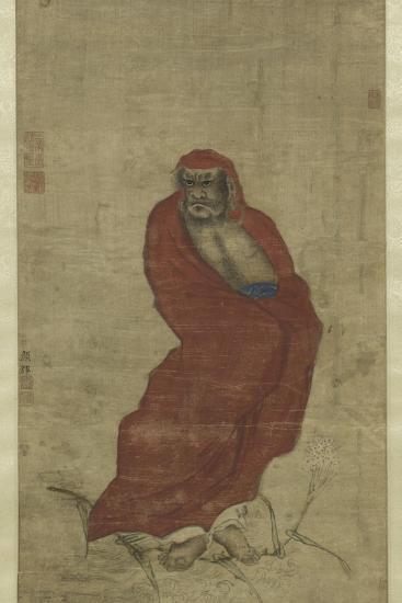 Bodhidharma Crossing the Yangzi-Hui Yan-Giclee Print