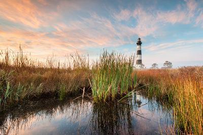 Bodie Island Lighthouse Coastal Marsh Landscape-markvandyke-Photographic Print